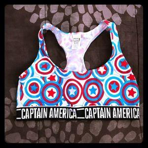 Captain America Bralette / bra top XL NWOT New